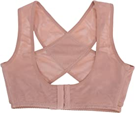 Healifty Figure Back Posture Corrector Humpback Correction Brace Chest Bra Support for Woman - Size M (Skin-Color)