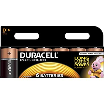 Duracell Plus Power Piles Alcalines type D Pack de 6