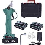Professionele elektrische snoeischaar, 48 V-2,0 Ah accu, snoeischaar, snijdiameter 30 mm, voor tuinbomen en fruitbomen, 2 opl