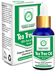 HONEST CHOICE Tea Tree Oil - 15ml | Tea Tree Essential Oil For Skin,Hair,Face,Acne Care | Essential Oils For Diffuser | Pure Essential Oil.