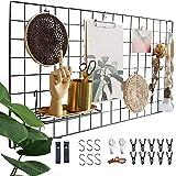 Actualice el estante de la rejilla de la pared, la rejilla de hierro DIY de la foto, la decoración de la pared, el pizarrón,