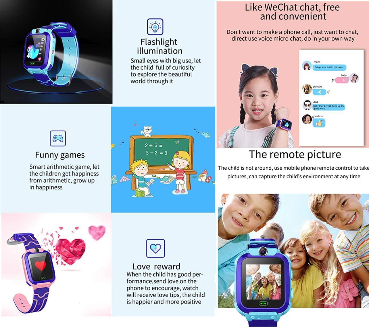Smartwatch Niños, Reloj Inteligente Niña IP67, LBS, Hacer Llamada, Chat de Voz, SOS, Modo de Clase, Cmara, Juegos… 6