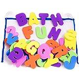 36 Letras y números de baño con organizador. Los mejores juguetes de baño educativos con organizador premium y no tóxico sin