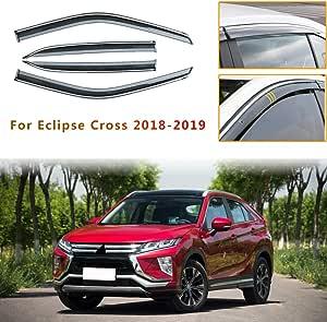 Für Mitsu Bishi Eclipse Cross 2018 2019 4pcs Original Windabweiser Für Seitentüren Regenabweiser Schwarz Fenster Vent Visiere Smoked Abweiser Türen Ventvisor Auto