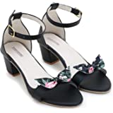 stret fashion woman and girl casual heel sandal