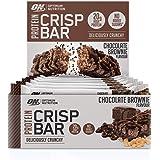 Optimum Nutrition Crisp Bar 10 Barrette Proteiche con Proteine Whey Isolate in Polvere, Cioccolato Brownie, Scatola di 10 x 6