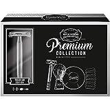 Wilkinson Sword Kit de Afeitado Clásico Manual - Set Regalo para Hombres con Maquinilla Vintage + 5 Cuchillas de Doble Hoja +
