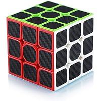 Cube de Vitesse Magique 3x3 3x3x3 Speed Cube Magic Cube Fibre de Carbone Autocollant Cadeau de Vacances pour Enfants…