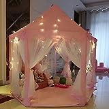 """Intérieur Tente Princesse,Tente Enfant ,UniqueVC Jardin Enfant,Tente de Jeu - 55""""x 53""""(DxH)-Petites Lumières LED étaient fournies - Balles et couverture non incluses"""