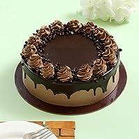 Ferns 'N' Petals Cream Drop Chocolate Cake Half Kg Eggless| Birthday Cake| Anniversary Cake|Next Day Delivery