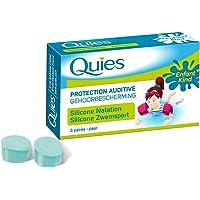 QUIES - protection auditive silicone special natation pour enfant - boite de 3 paires