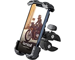 Lamicall Bike Phone Holder, Motorcycle Phone Mount - Adjustable Motorbike Phone Holder for iPhone 12 Mini, 12 Pro Max, 11 Pro