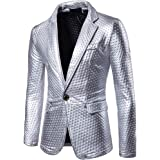 Blazer Men's Fashion Self-Cultivation and Bright-Faced Suit Pure Color Tweed Suit