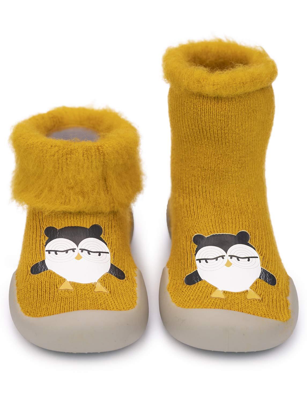 Adorel Zapatos Antideslizantes Calcetines Invierno para Bebé 5