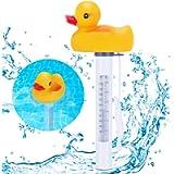 Floating Pool Thermometer, Renfox Duck ShRenfox Pool Thermometer, Duck Shape Water Thermometer Shatter Resistant…