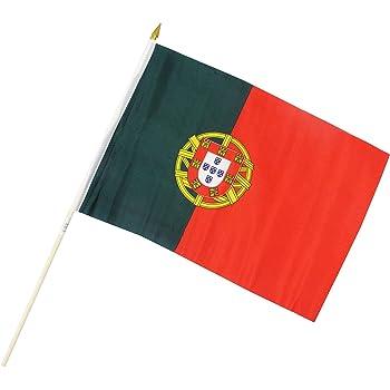 Creation Gross Fahne Flagge Brasilien 30 x 45 cm mit Holzstab H/öhe 61 cm 0520340 2er Set