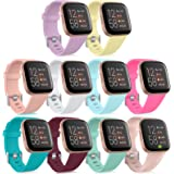 Witzon Replacement Bands Compatible with Fitbit Versa 2 / Versa/Versa Lite/Versa Special Edition, Waterproof Soft Silicone Wr