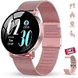 "GOKOO Reloj Inteligente Mujer Smartwatch 1.3"" IPS Pantalla Pulsera Actividad Completa Táctil Reloj Deportivo IP67 Impermeable"