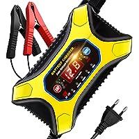 AOKBON Chargeur de Batterie Voiture Rapide 12A 6V/12V Mainteneur de Batterie Intelligent Portable avec Écran LCD…