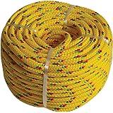 Kunststof touw PP polypropyleen polytouw geel 20mx4mm