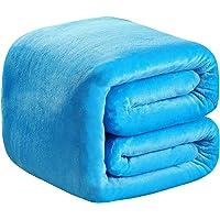 Richave Plaid Couverture Polaire Epaisse 150x200cm Microfibre Polyester Doux et Chaud Couvre-Lit Sofa Jete de Canape…