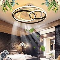 Plafonnier Ventilateur De Plafond Avec Éclairage LED Dimmable Ventilateur Au Plafond Avec Lampe Ultra Silencieux Fan…