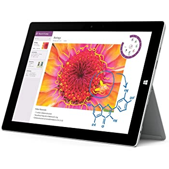 Microsoft Surface 3 Tablet PC 32 GB, Wi-Fi, 10,8 pollici, Windows 8.1 Pro – Modello: 7G7 – 00003.