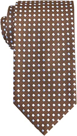 Remo Sartori - Elegante Cravatta Marrone Microfantasia in Seta, 8 Cm, Made In Italy, Uomo