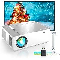 Bomaker Vidéoprojecteur, 7200 Projecteur LED Outdoor Movie, 5D ± 50 ° Correction Trapèze avec Zoom Video Projecteur Full…