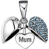 Lovans - Ciondolo a forma di cuore, in argento Sterling, idea regalo per la festa della mamma