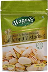 HappiloPremium Californian Roasted and Salted Pistachios, 200g (Pack of 1)
