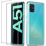 QHOHQ etui do Samsung Galaxy A51 (nie 5G) 2-pak ochraniacz ekranu, szkło hartowane przezroczyste ultracienkie miękkie silikon