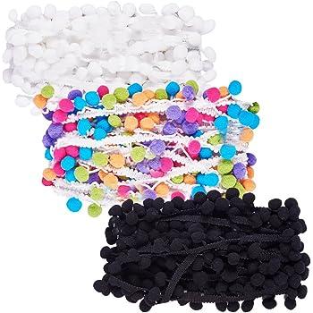NBEADS 18m 3COLORS Pack 6 m colore decorazione pom pom sfera frangia Trim  nastro bordo cucito pizzo tessuto cucito fai da te Craft a7f78ed783cd