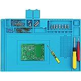 Preciva 450 * 300mm Tapis à Souder en Silicone avec Magnétique Section Coupe vis Encoches, Tapis de Réparation, Station de Ré