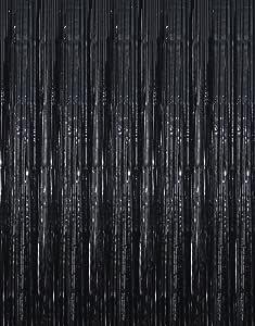 Goer Fransenvorhänge Aus Metallic Lametta Folie 1 X 3 M Für Party Foto Hintergrund Amazon De