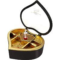 Aytop Musik-Schatzbox, Musik-Schmuckkästchen mit drehendem Ballerina-Motiv, Herzform, Vintage-Mechanismus, aufziehbar…