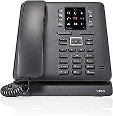 Gigaset T480HX Desktop Telefon - Schnurloses Internet-Telefon mit Bluetooth und UBS-Anschluss, schwarz