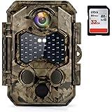 COOLIFE Cámaras de Caza 32MP 4K Velocidad de Disparo 0.2s Nocturna IP66 Impermeable Cámara de Fototrampeo con Detección de Ac