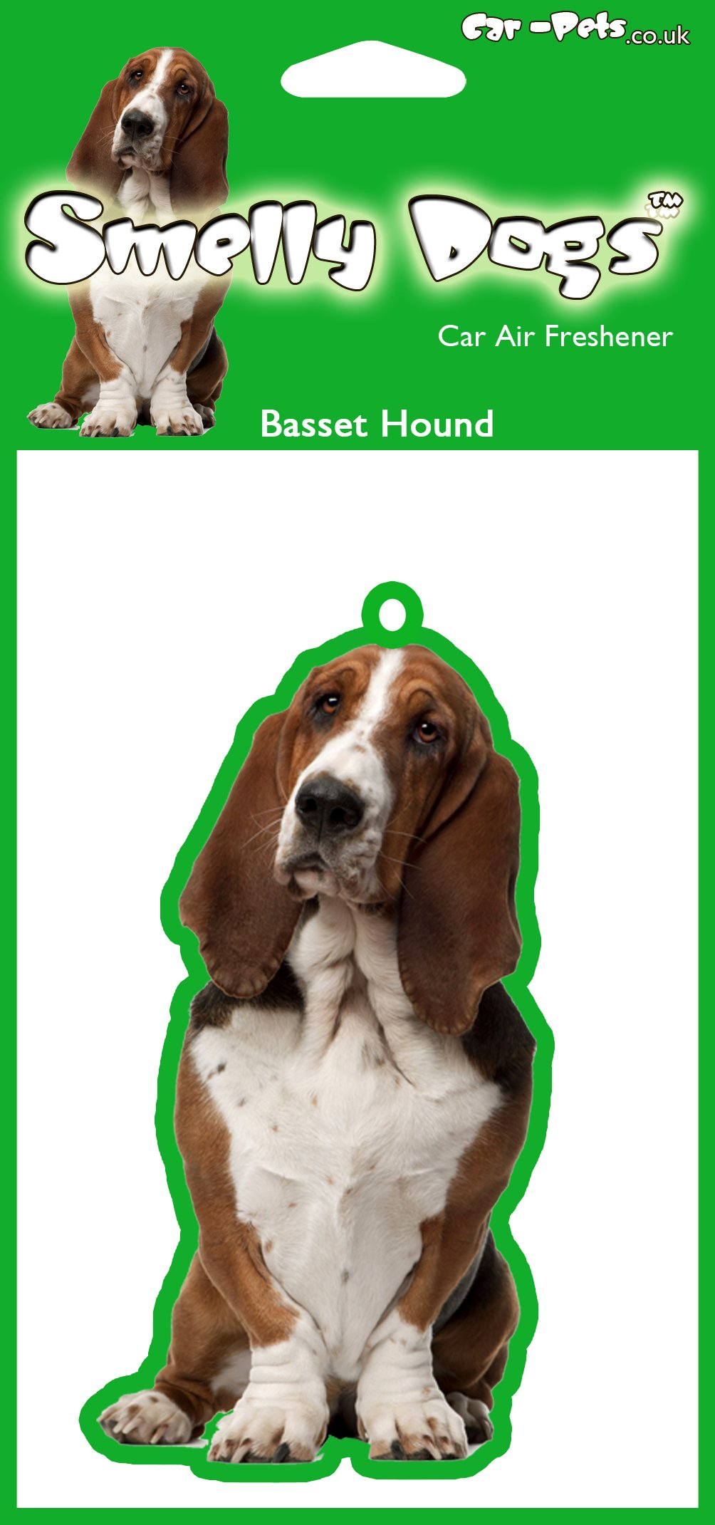 Basset Hound Dog – 2 x Delightful Car Air Fresheners