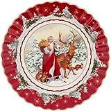 Villeroy & Boch 1483323638 Toy's Fantasy Ciotola Grande Babbo Natale con Animali della Foresta (1 Pezzo), Porcellana, Multico