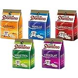 Café mix DOMINO - pack 5x18 dosettes COMPATIBLES SENSEO® aromatisées noisette, vanille, caramel, chocolat ou cappuccino