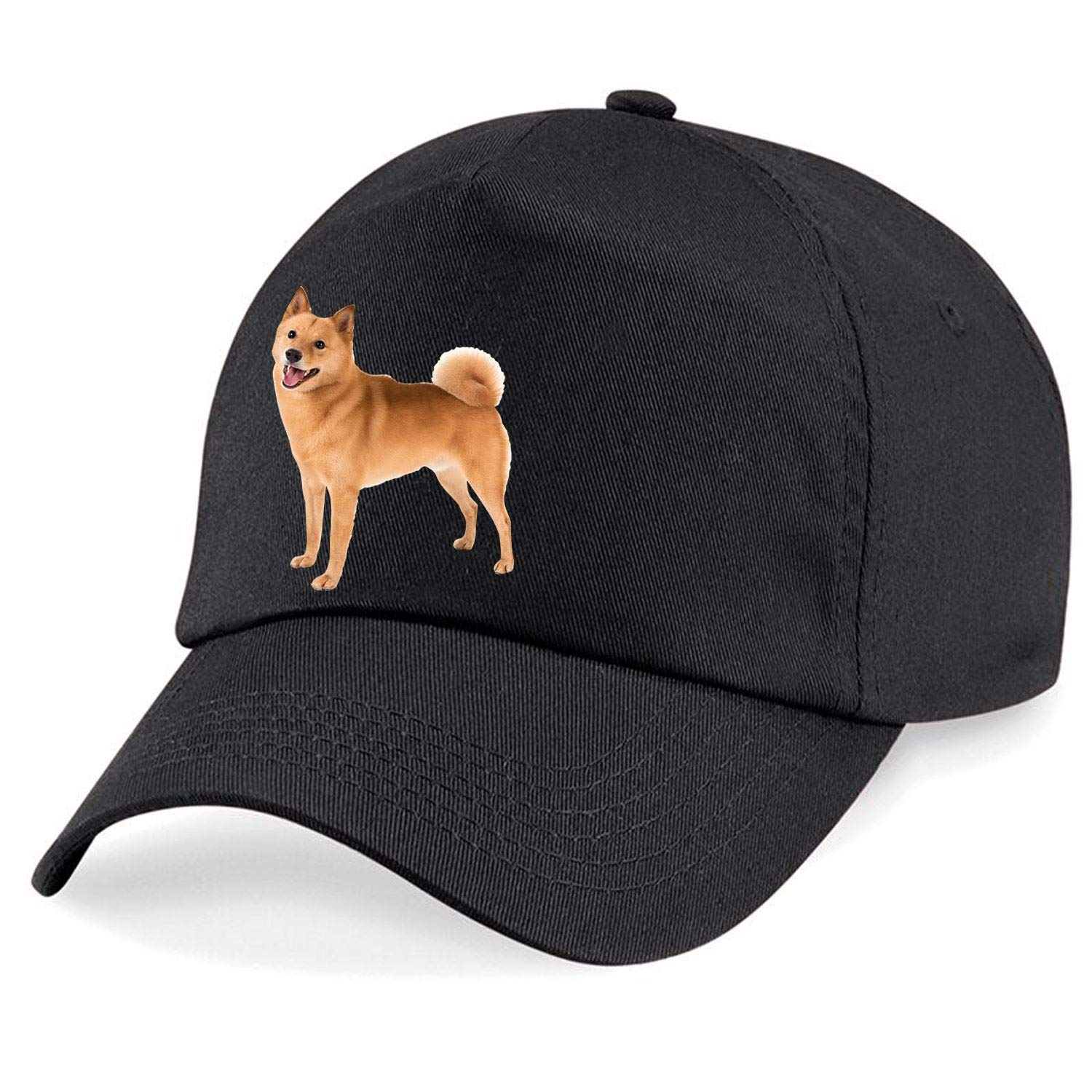 Taurus Clothing Finnish Spitz Dog Personalised Embroidered Cap Black