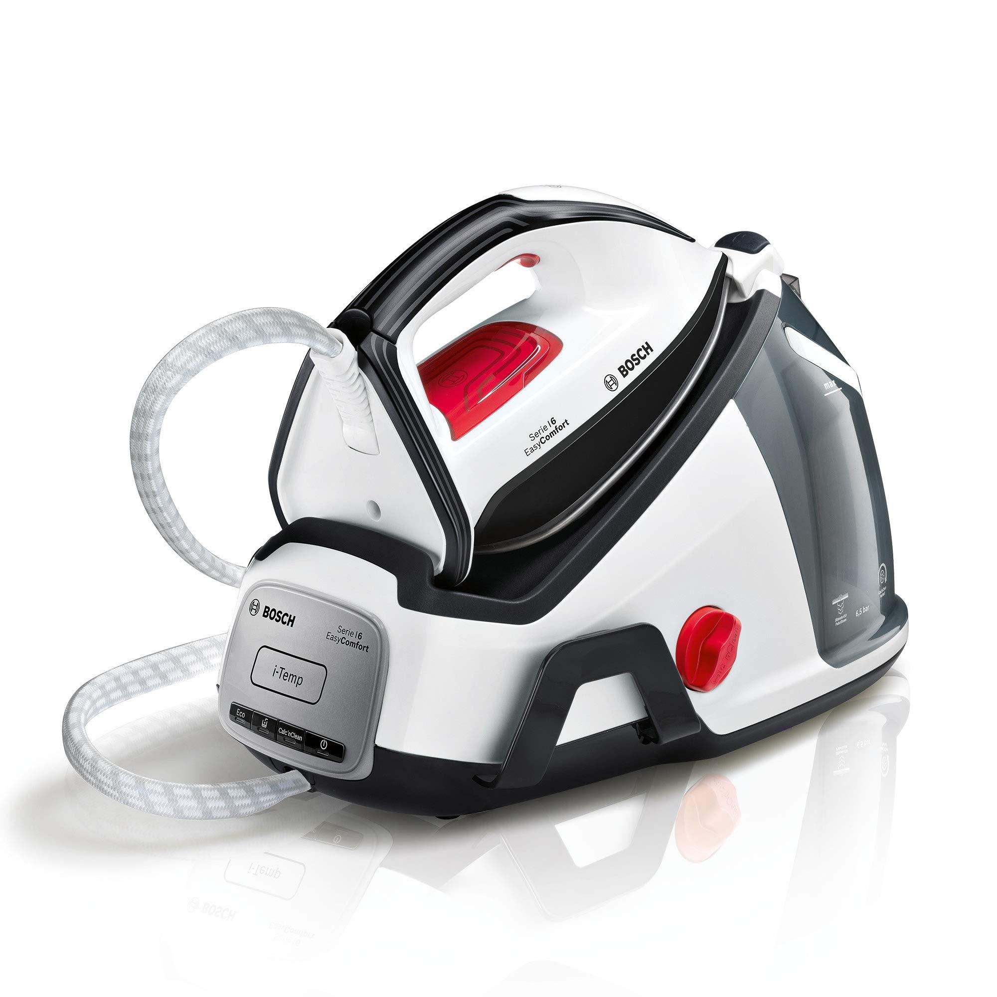 Bosch TDS6540 EasyComfort Dampfstation (einfache Bedienung, abnehmbarer Wassertank, kratzfeste Bügelsohle, 2.400 Watt) weiß