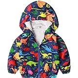 Coralup chamarra con capucha de dinosaurio unisex para niños y bebés, chaqueta de camuflaje impermeable cortavientos (multico