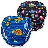fakiku Pannolino Costumino Contenitivo Neonato Bimbi 0-36 Costume Piscina Regolabile Riutilizzabile Costumi per Bambini Set M