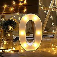LED Marquis Numéro Lumières, Signe Allumer Numéro Lettres Lampe Pour Mariage Anniversaire Fête Noël Lampe Veilleuse…