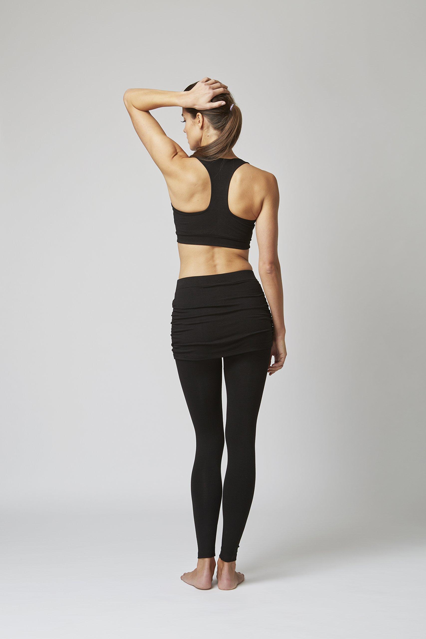 71gzt29NqmL - TLC Sport Stay Strong Offer Women's Lightweight Waisted Gathered Skirt Leggings Black