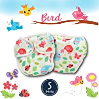 Paw Paw Reusable Baby Washable Cloth Diaper Nappies with Wet-Free Inserts for Babies/Infants/Toddlers (Small (3-6 Kg…