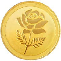 Malabar Gold & Diamonds 24k (999) Rose 2 gm Yellow Gold Coin