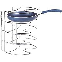 iDesign 48770EU Rangement Classico pour Armoire de Cuisine pour poêles, etc-27,9 cm, Vertical, Chrome, Acier, 27,9 x 23…